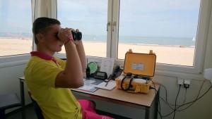 Vanuit de uitkijktoren van Post 4 wordt het strand van de Pier tot aan het havenhoofd in de gaten gehouden.