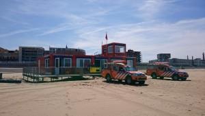 Post 4, de grootste post op het Scheveningse Strand ter hoogte van de Keizerstraat.